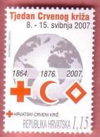 RED CROSS & RED CRESCENT & RED CRYSTAL ( Croatia MNH** ) Croix Rouge Rotes Kreuz Cruz Roja Croce Rossa Cruz Vermelha - Croce Rossa