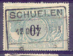 A300 Belgie Spoorwegen Met Stempel SCHUELEN - 1895-1913