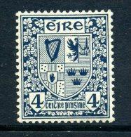 Ireland 1922-34 Irish Free State Definitives - 4d Slate Blue Arms Of Ireland HM - SE Watermark - Nuovi