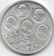 500 FRANCS Argent 5 ROIS 1980 FR - 1951-1993: Baudouin I