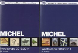 MICHEL Band 5+6 Nord/Westeuropa Briefmarken Europa Katalog 2013/2014 Neu 120€ DK FL Esti Lt Lat S NO UK Man EIRE B N Lux - Old Paper