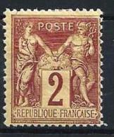 """YT 85 """" Sage 2c. Brun-rouge """" Neuf* - 1876-1878 Sage (Type I)"""