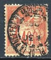 "YT 94 "" Sage 40c. Rouge-orange "" Cachet à Date - 1876-1878 Sage (Type I)"