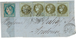 Grd Frgt - Sept 1871 - N°37+ 39 X4 (Etat 2 R 3) Obl. GC 2273 - 12 Sept 71 - Trace Timbre Manquant / 25 Cts - 1870 Emisión De Bordeaux