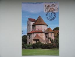 CARTE MAXIMUM MAXIMUM CARD ABBATIALE D´OTTMARSHEIM RARE FRANCE - Chiese E Cattedrali