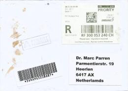 Switzerland 2010 Basel Meter Franking EMA ATM Barcoded Registered Cover - Zwitserland