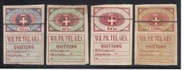 AUSTRIA TELEGRAPH 1870 VIENNE COMPANY LOT - Telegraphenmarken
