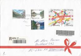 Switzerland 2000 Chur China Cooperation Barcoded Registered Cover - Gezamelijke Uitgaven