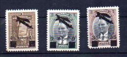 Timbres 1930 Surchargés, PA 9 / 11**, Cote 21 €, - 1921-... Republic