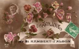 UN BONJOUR DE SAINT-RAMBERT-D'ALBON CARTE FANTAISIE  PEU COURANT 1916 - Zonder Classificatie