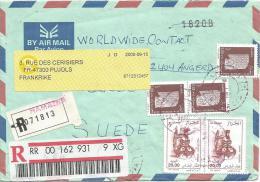 Algeria 2000 Hamadia Pottery Barcoded Registered Redirected Cover - Algerije (1962-...)