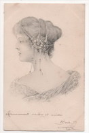 CPA Fantaisie - Femme - Lady - Frau - (style Vienne) - Portrait - Femmes