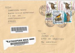 Ethiopia 2012 Endaselasie Endemic Bird Barcoded Registered Cover - Ethiopië