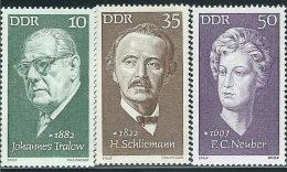 DDR 1972 Nuovo** - Mi.1731;1734/5  Yv.1421;1424/5 - Neufs