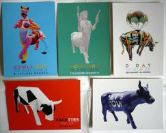 LOT 5 CP : VACHES / Exposition COWPARADE, TOULOUSE, 2012 / ART CONTEMPORAIN / NEUVES ! - Sculptures