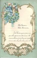 Superbe Lettre Gaufrée Avec Decoupi à Système - Fleurs  - 1935 - Flowers