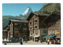 CP, SUISSE, VS, Zermatt 1616 M, Dorfplatz Mit Matterhorn, Vierge - VS Wallis