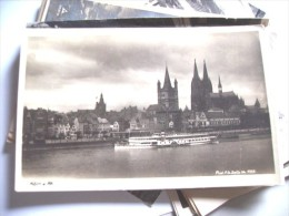Duitsland Deutschland Allemagne Germany NRW Köln Stadt Und Schiff - Koeln