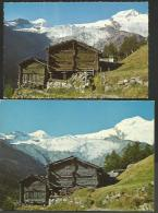 SAAS FEE Stadel In Der WILDI 2 Karten Gross- Und Kleinformat - VS Valais