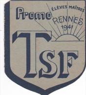 Rennes 35 Bretagne France Carte Ecole Guerre 1939 1945 Eleves Maitres Bac Résisitance ? 1941 TSF - Vieux Papiers
