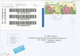 Yugoslavia Serbia 2011 Beograd EUROPA Nature Environment Paeonia Flower Barcoded Registered Cover - Servië