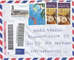 Liban Lebanon 2010 Beirut Malik Hariri Airport Barcoded Registered Cover - Libanon