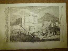 12 Juin 1834 MAGASIN UNIVERSEL : Château Saint-Elme Et L'Oeuf à NAPLES (Napoli);Jean Goujon;Monuments Penchés - Kranten