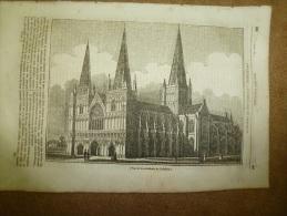 19 Juin 1834 MAGASIN UNIVERSEL :Cath. Lichfield LONDRES; Arc Triomphe ; ILES De DIEMEN ; Pilori à WATERLOO - Kranten