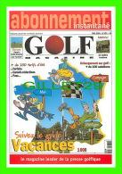 ADVERTISING - PUBLICITÉ - ABONNEMENT INSTANTANÉ, GOLF MAGAZINE - No 132 , 2000 - - Publicité