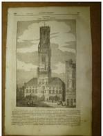 3 Juillet 1834 MAGASIN UNIVERSEL : Gand; Tour Du Temple ;La Table Ronde(St-Gréal);Ecriture-symbole; Origine Des Cloches - Kranten