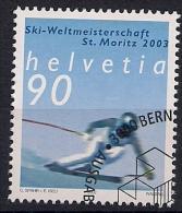 2002 Schweiz Mi.  1816 FD - Used  Alpine Ski-Weltmeisterschaften, Sankt Moritz Abfahrtslauf - Used Stamps