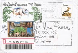 Spain 2007 Chinlana Hop Hoopoe Bird Barcoded Registered Cover - Spechten En Klimvogels