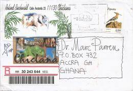 Spain 2007 Chinlana Hop Hoopoe Bird Barcoded Registered Cover - Climbing Birds