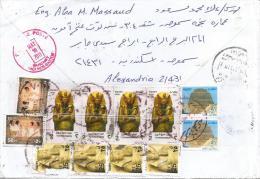 Egypt 2011 Markaz El Zaraka Piramid Tutanchamon Farao Barcoded Registered Cover - Brieven En Documenten