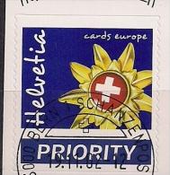 2002 Schweiz Mi.  1818FD - Used  Goldenes Edelweiß Mit Schweizer Kreuz Cards Europe - Suisse