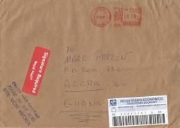 Brasil 2005 Ilheus Meter Franking Barcoded Registered Cover Via UK - Brazilië
