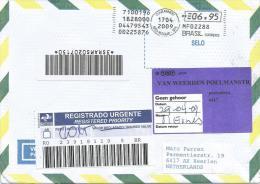 Brasil 2009 Sao Roque Meter Franking Barcoded Registered Cover - Brieven En Documenten