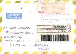 Brasil 1998 Petropolis Meter Franking Barcoded Registered Cover - Brieven En Documenten