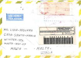 Brasil 1998 Petropolis Meter Franking Barcoded Registered Cover - Brazilië