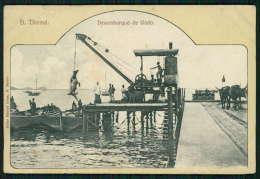 SÃO TOMÉ E PRINCIPE / ILHA DE S. TOMÉ / ÁFRICA Postal Desembarque De Gado. Old Postcard - Sao Tome Et Principe