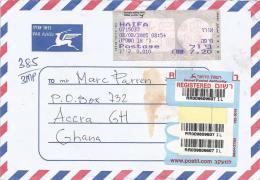 Israel 2005 Haifa ATM Post Office Meter Franking Barcoded Registered Cover - Frankeervignetten (Frama)