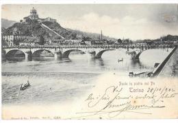 PIEMONTE-TORINO PONTE IN PIETRA SUL PO PRIMI 900 - Bridges