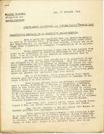 SECOURS NATIONAL SOUS LE HT PATRONAGE MAL PETAIN  ENTETE DES BASSES PYRENEES PAUL LE 11 FEVRIER 1941 COMPTE RENDU D ACTI - Documents Historiques