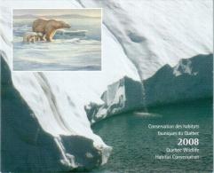 Carnet Habitats Fauniques Du Québec 2008 - Ours Blanc - Sans Le Timbre - Ohne Zuordnung