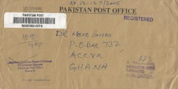 Pakistan 2006 Karachi Unfranked Official Barcoded Registered Cover - Pakistan