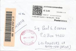 Italy 2005 Barcoded Registered Cover - 1946-.. Republiek