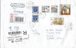 Slovakia 2007 Sered Church Painting Dove Pigeon Barcoded Registered Cover - Slowakije