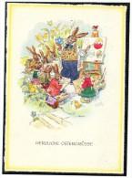 EMERICH HUBER  -  OSTERGRÜSSE    OSTERHASENSCHULE      ~ 1945 - Illustrators & Photographers