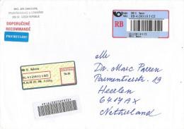 Czech 2009 Batelov Meter Franking Barcoded Registered Cover - Brieven En Documenten