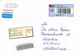 Czech 2009 Batelov Meter Franking Barcoded Registered Cover - Lettres & Documents